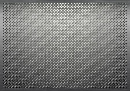 perforated metal: Gray metal background, perforated metal texture Illustration