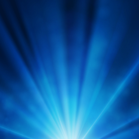 Abstract blue background with glowing rays, underwater background