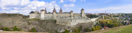 Panorama of an old castle in Kamenetz Podolsky, Ukraine, Europe.