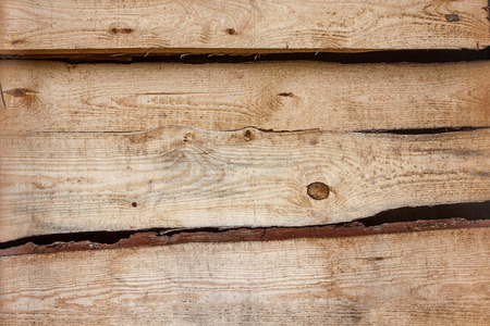 wood panel: Brown background texture of  horizontal wooden planks logs bark
