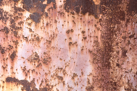 Old rust metal sheet painted texture with cracked paint background Stock Photo