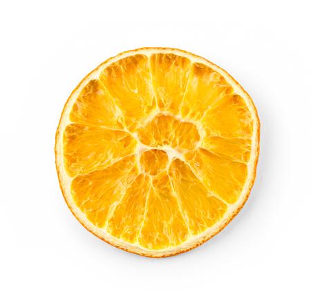spice: Dried orange slice isolated on white background Stock Photo