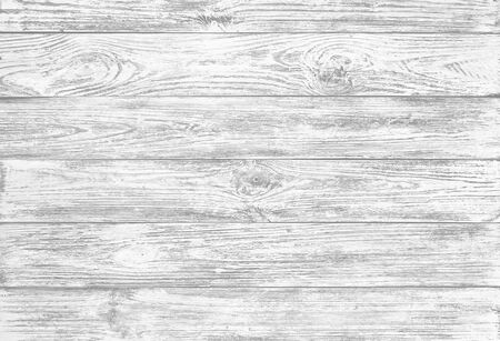 Old grunge, wooden background of white planks, board or wood fence, closeup
