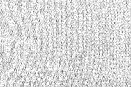 Abstract vintage white background - woolen plane fabric with without waves, smooth tissue, closeup