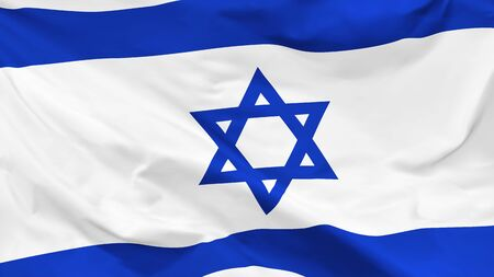 Fragment of a waving flag of the State of Israel in the form of background, aspect ratio with a width of 16 and height of 9, vector