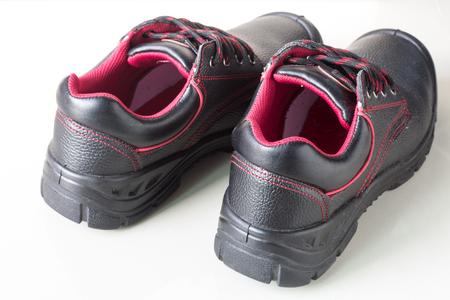 safety shoe black on white background