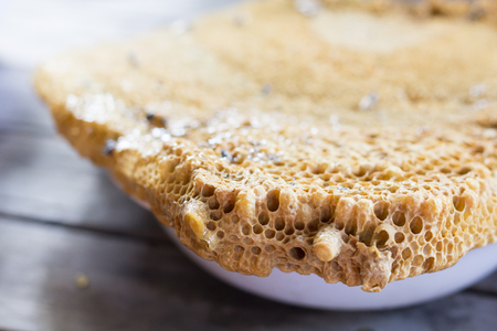 close up honeycomb and select blurred in the other Stock Photo