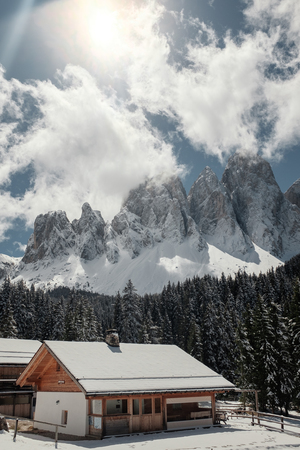 Rest in the north of Italy in winter. Tour to the Dolomites.