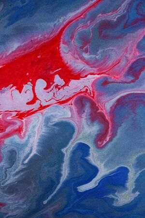 Abstract blue and red watercolor background texture. strokes of paint, background. art composition