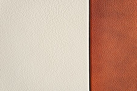 White and brown leather texture. close-up. design. Banque d'images