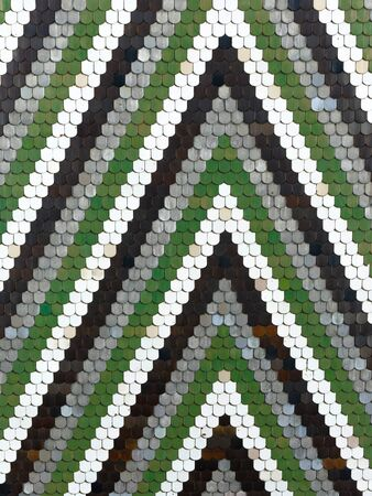 Old pattern creates a stunning image.Abstract geometric mosaic vintage ethnic seamless image ornamental. Stock Photo