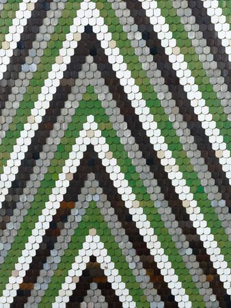 Old pattern creates a stunning image.Abstract geometric mosaic vintage ethnic seamless image ornamental. 스톡 콘텐츠