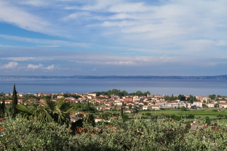 garda: Bardolino, small town next to lake Garda, Italy Stock Photo