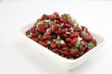 cold bean salad Stock Photo