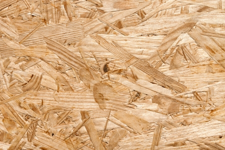 reforming: placa hecha de virutas de madera Foto de archivo