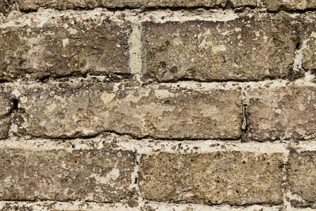 an ancient wall made of rectangled bricks  High resolution picture Stock Photo
