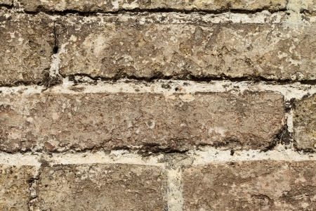 an ancient wall made of rectangled bricks. High resolution picture