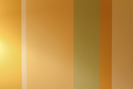 colored strips on interior wall