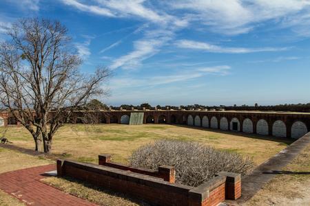 tybee island: Fort Pulaski next to Tybee Island Stock Photo