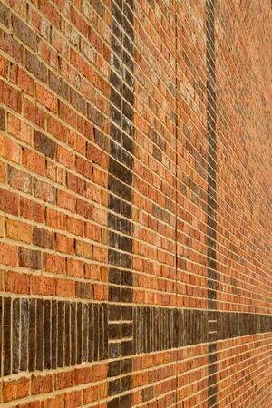 vertical image of endless bricks wall