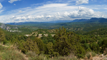 The senic view of Zagoria in North of Greece
