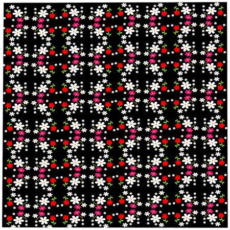 champ de fleurs: Un ensemble de fleurs des champs fra�ches Illustration