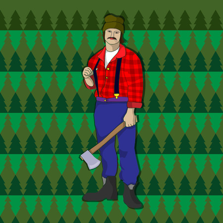 woodcutter: Strong woodcutter Illustration