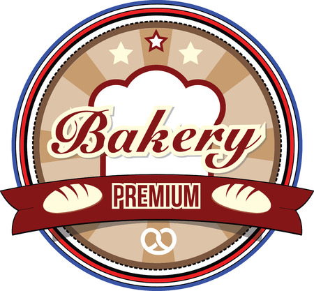 Bakery Retro Label. Vector design. Vector