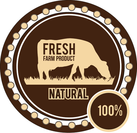 Farm design over brown background vector illustration Vector