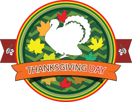 grungy email: Vector illustration.Grunge rubber stamps with the text Thanksgiving Day written inside.