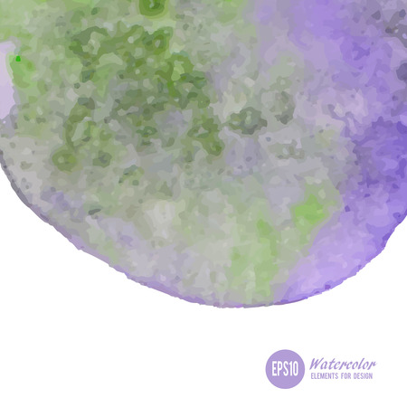 granulation: Abstract watercolor art hand paint isolated on white background. Illustration