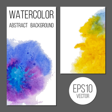 avenue: Design brochure or business card with watercolor stains