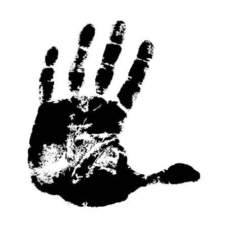 hand print: Hand print on white background.