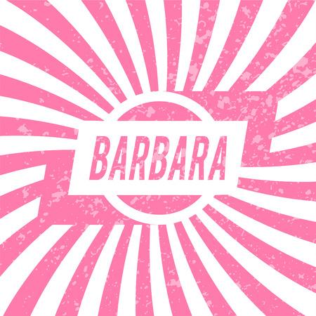 barbara: Name Barbara, graphic design elements.