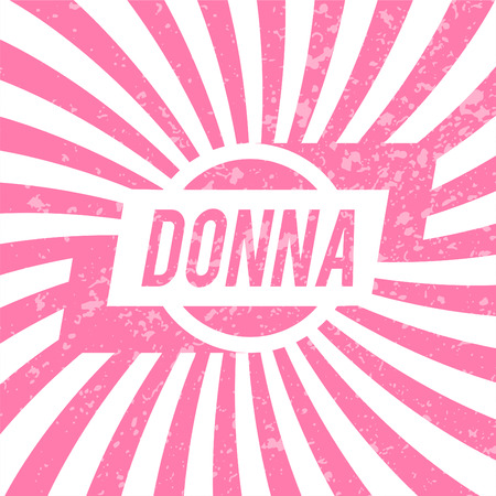 donna: Name Donna, graphic design elements.