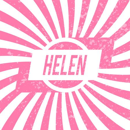 helen: Name Helen, graphic design elements.
