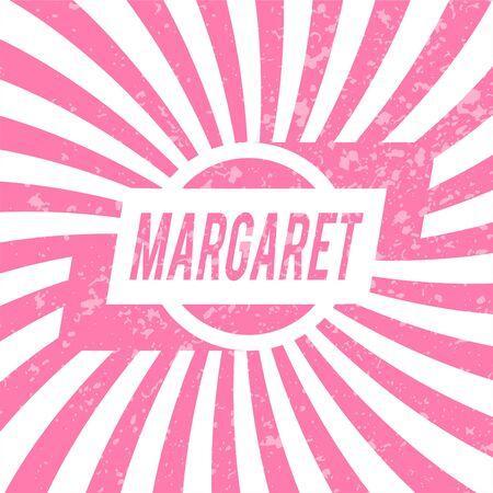 Name Margaret, graphic design elements.  Vector