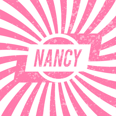 Name Nancy, graphic design elements.  Illustration