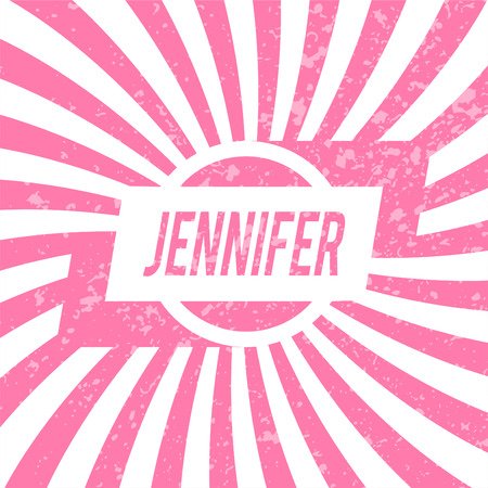 jennifer: Name Jennifer, graphic design elements.