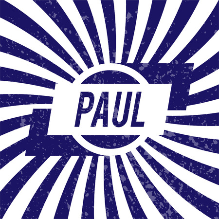 paul: Name Paul, graphic design elements.