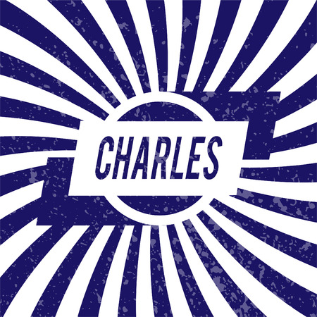 charles: Name Charles, graphic design elements.