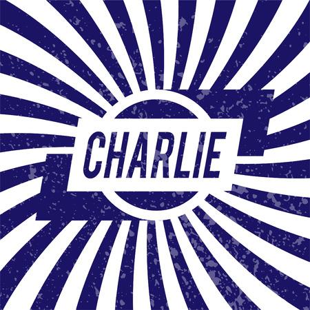 charlie: Name Charlie, graphic design elements.  Illustration