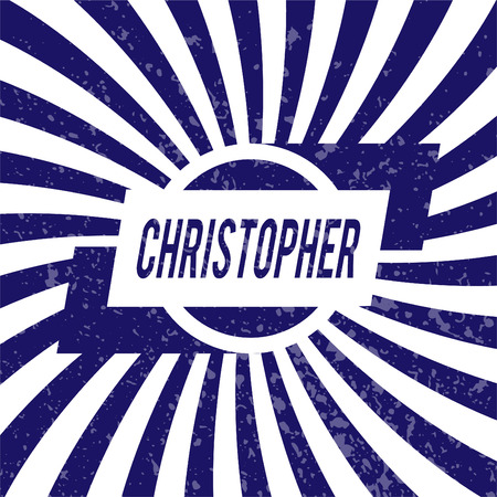 christopher: Name Christopher, graphic design elements.