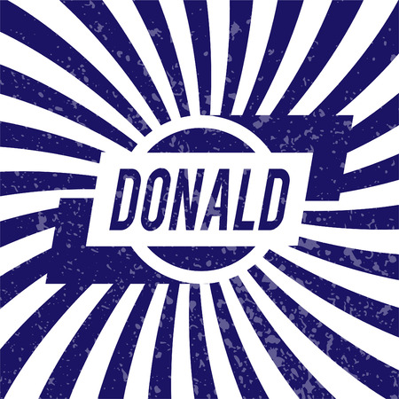 donald: Name Donald, graphic design elements.
