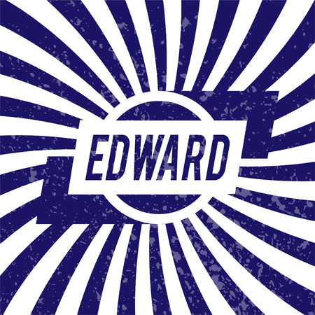edward: Name Edward, graphic design elements.
