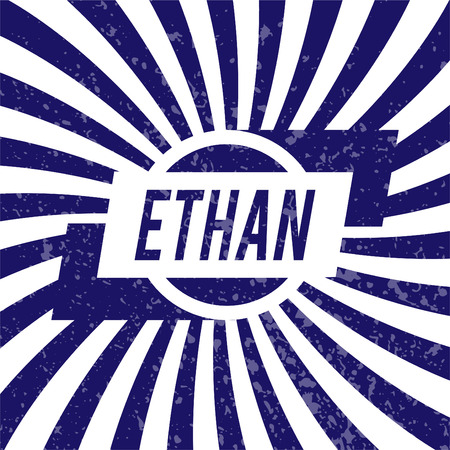 ethan: Name Ethan, graphic design elements.