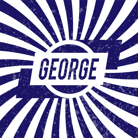 george: Name George, graphic design elements.  Illustration