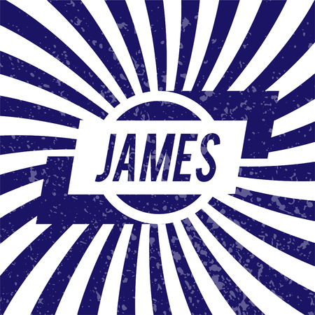 james: Name James, graphic design elements.