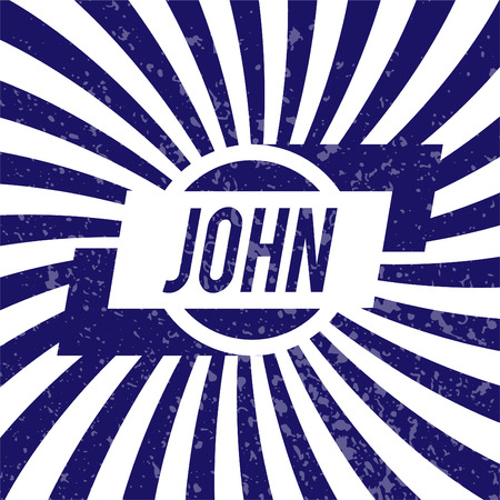 john: Name John, graphic design elements.