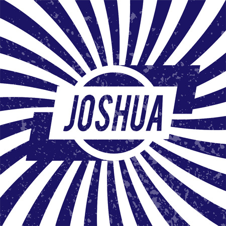 Name Joshua, graphic design elements